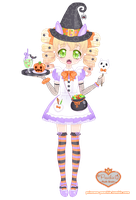 Maid Mallow's Halloween by Princess-Peachie