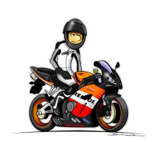 Cartoon CBR 1000RR Repsol by schimmo