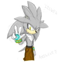 Silver the hedgehog by axelcat7
