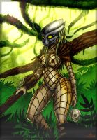Jungle Hunter. (digital color) by Dirty-Wolf