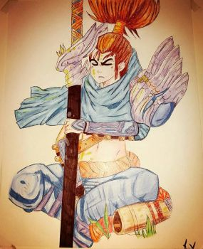 yasuo from League of Legends  by sofiavalvi