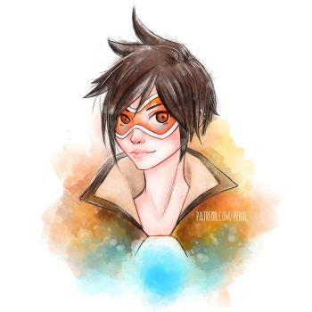 Tracer - Brush Experiment by Herr-Pekoe