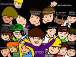 Epic Rap Battles of Cartoons Crew UPDATED! by OMGitsthatboy