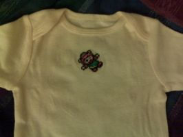 Link - Cross-stitched Onesie by Craftigurumi