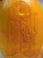 Donald Duck Pumpkin Carving 2 by DistantVisions