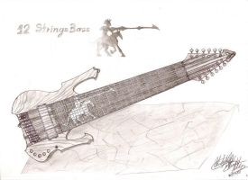 12 string bass by christopherdepaula