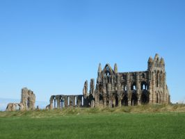 whitby abbey ruins by wolfwarrior74