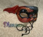 Little red dragon mask by merimask