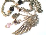 Feather Pendant Charm Necklace by AbsoluteJewelry