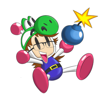 Commission - Bomberman Yoshiller by ImmaComicGenius