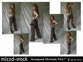 Steampunk Mechanic Pack 7 by mizzd-stock