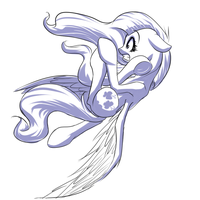 Pony pose challenge #8: Fluttershy by MykeGreywolf