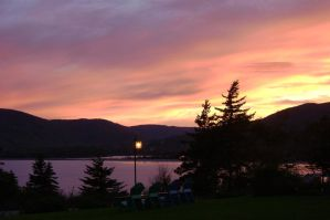 Salmon Pink Sky by TinaCaper