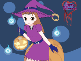 Halloween Pic 5 - Jeri Katou as a Cute Witch by ChipmunkRaccoon2