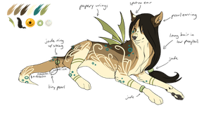 Paper-winged Wolf Design (AUCTION, CLOSED) by Noctilida