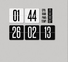 Super Flip Clock for xwidget (FIXED) by jimking