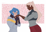 [Out of the Hunt] Kiss girlfriend's hands by Qursidae