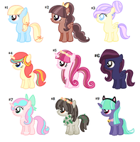 CLOSED - Assortment of Fillies - Adopts - 15 pts by rem-ains