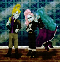 Flavio, Clyde, and Sadia by TrainerKelly