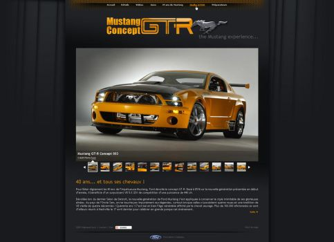 Mustang GT-R Concept webdesign by spavic
