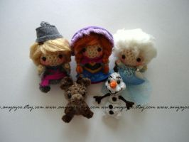 Frozen Amigurumi Set by AnyaZoe