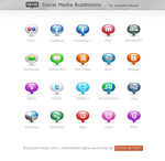 FREE: Social Media Bubblicons by HYDRATTZ