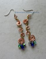 Curly-Q Earrings by Delicious-Filth