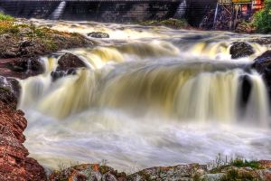 The falls of Bishop Falls by Witch-Dr-Tim