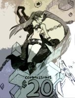 Black Rock Shooter alt by oh8