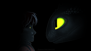 Fan Art - Hiccup and Toothless 2 by JessyMegan