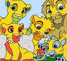 the simpsons as lions by tigertaiga