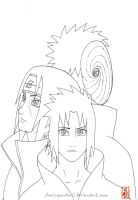 The last Uchihas lineart by sharingandevil