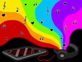 Rainbow Music. by Helen--127
