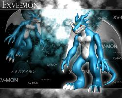 ExVeemon 3d by me by EAA123