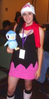 Dawn and Piplup by Cartoon-Eric