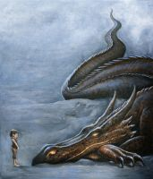 A Boy and his Dragon by Markelli