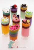 Fruit Juice with Honey Shooter by theresahelmer