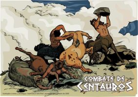 battle of centaurs by psicopoldo