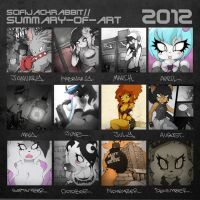 SCIFIJACKRABBIT ~ Art Summary 2012 by SCIFIJACKRABBIT