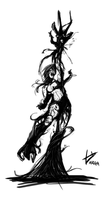 Symbiote Girl by theinkBot