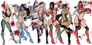 Queens of Kombat by CrimsonArtz