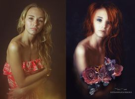 before/after portret... by mirandaarts