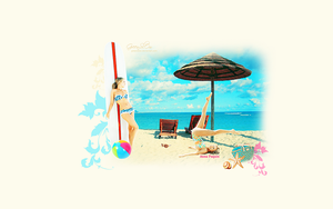 Anna Paquin summer wallpaper by GreenSlOw