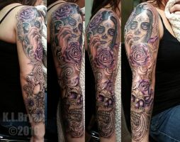 Day of the Dead Sleeve sitting 3 by danktat