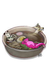 Ramen hot tub by Myrcury-Art