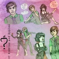 AltVers Riddler and Snow Sketchdump by SnowFright