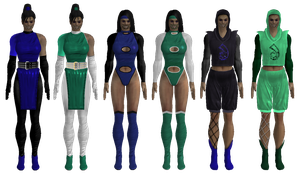 All Sarah's outfits + alt colours by Simony17y