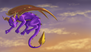 Spyro's Morning Flight by IcelectricSpyro