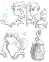 Frozen Sketches by alittlemandy
