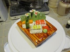 sushi cake 1 by recycledrapunzel